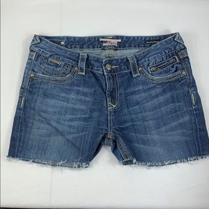 Rerock for Express Cut Off Denim Shorts SZ 12